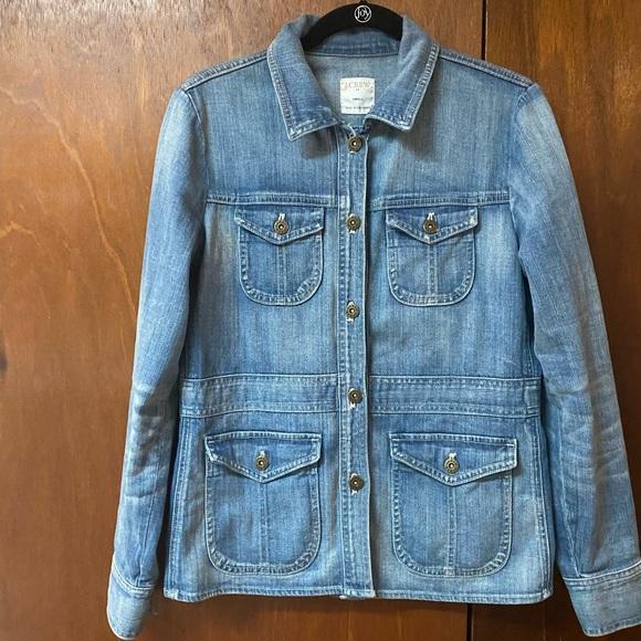 Vintage J Crew Denim Jacket Size Small